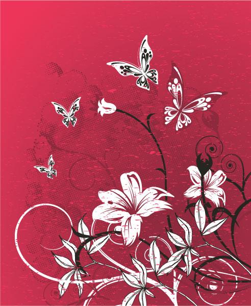 Illustration Vector Design: Grunge Floral Background Vector Design Illustration 2010 07 29 1047