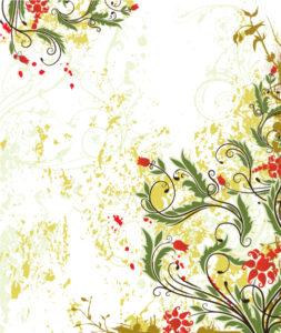 Vector Spring Grunge Floral Background Vector Illustrations old