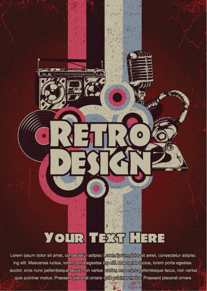 Poster, Vector, Retro, Music Vector Graphic Retro Music Poster Vector Illustration 1