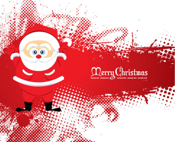 With Eps Vector Santa With Grunge 2010 08 13 1013