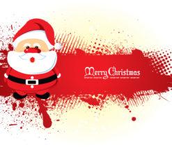 Santa With Grunge Vector Illustrations vector