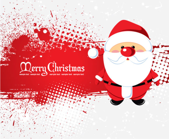 Insane With Vector: Santa With Grunge 5