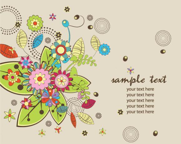 Floral-3, Flora, Background Vector Design Floral Background 5