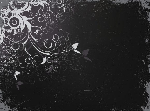 Grunge, Vector, With Vector Graphic Vector Floral Background With Grunge 5
