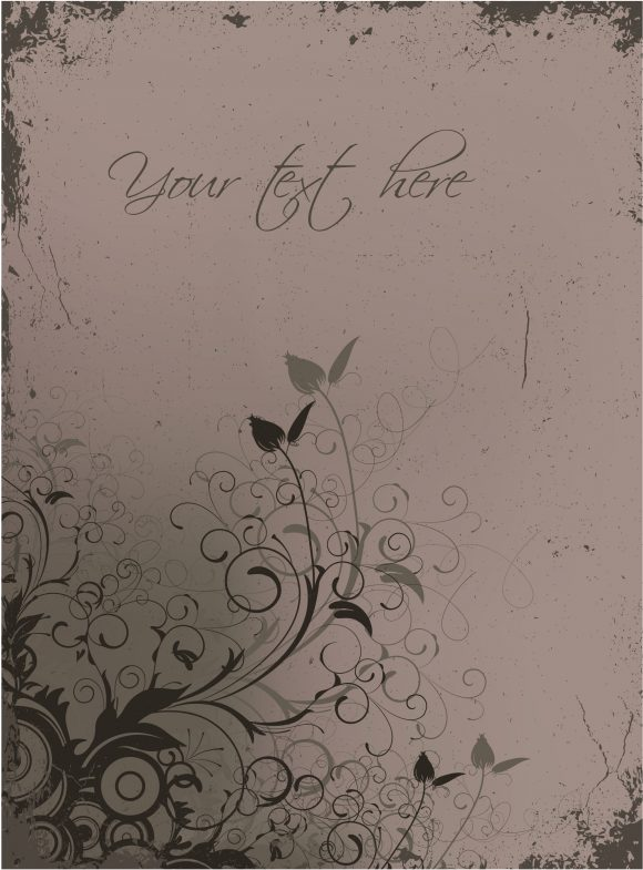 Background Vector Graphic Vector Floral Background With Grunge 2010 08 24 1012