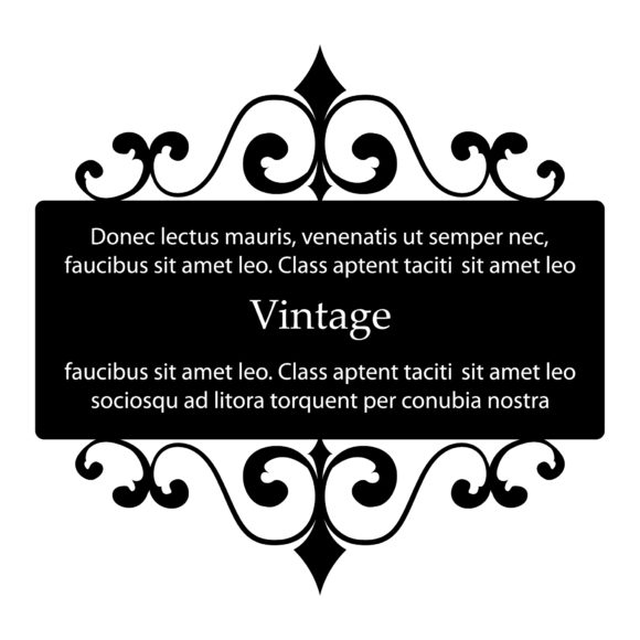 Wrought, Curl, Swirl, Vintage Eps Vector Vector Vintage Wrought Iron Frame 2010 08 25 105