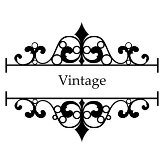 Vector Vintage Wrought Iron Frame Vector Illustrations old