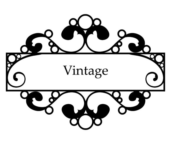 Lovely Frame Vector Background: Vector Background Vintage Wrought Iron Frame 5