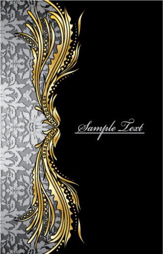 Damask Floral Background Vector Illustration Vector Illustrations old