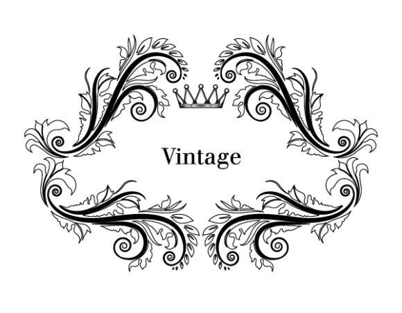 Bold White Vector Background: Illustration Of Vintage Floral Frame In Black And White Vector Background 2010 08 28 1010