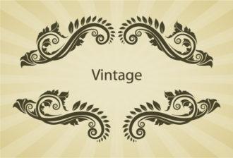 Illustration Of Vintage Floral Frame Vector Vector Illustrations old