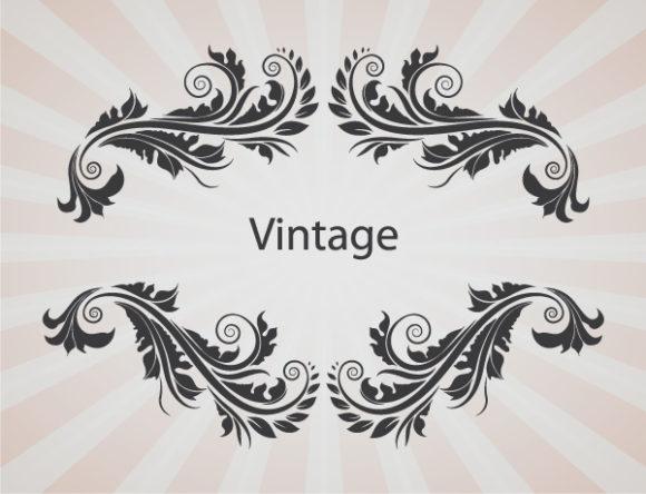 Bold Frame Vector Art: Illustration Of Vintage Floral Frame Vector Art 2010 08 28 1017
