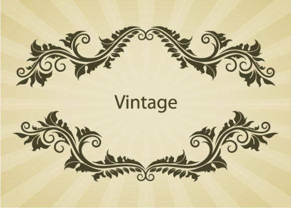 Of Vector Illustration Illustration Of Vintage Floral Frame Vector 2010 08 28 1018