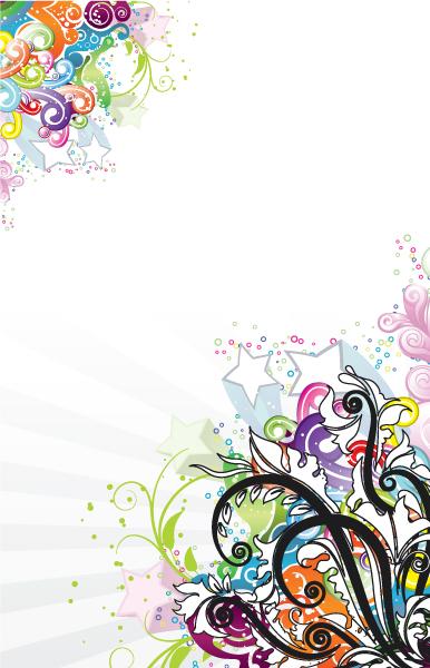 Gorgeous Floral Vector Artwork: Popart Floral Background Vector Artwork Illustration 5