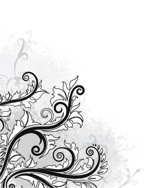 Floral Vector Illustration: Vintage Grunge Floral Vector Illustration Illustration 2010 08 28 102