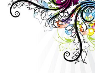 Popart Floral Background Vector Illustration Vector Illustrations star