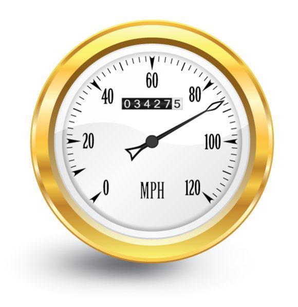 Gold Vector Background Vector Gold Speedometer 1