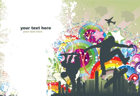 Urban Background Vector Illustrations star