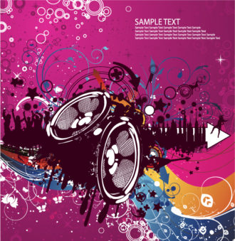 Concert Poster Vector Illustrations wave