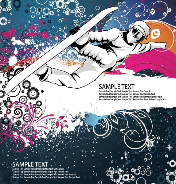 Boy Vector Illustration Vector Snowboarder 5