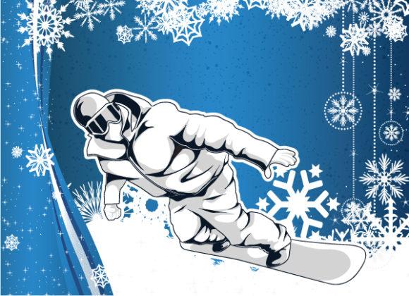 Snowboarder, Male Vector Graphic Vector Snowboarder 5