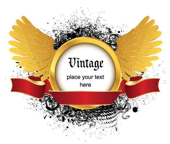 Creative Vector Artwork Vintage Emblem 2010 08 8 109