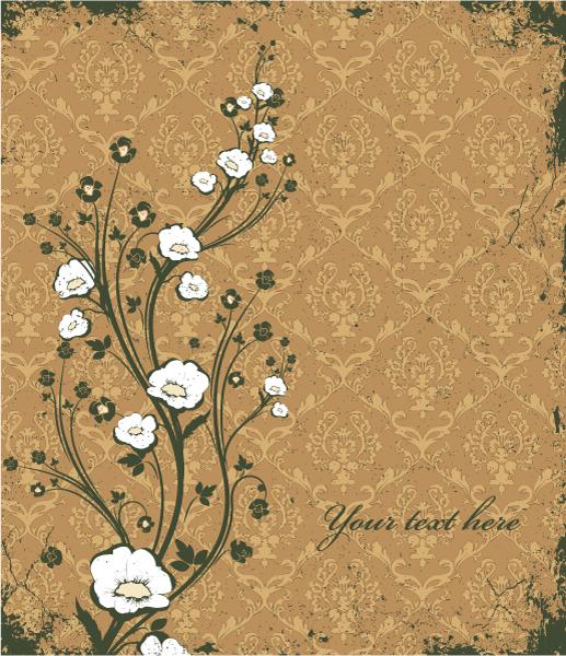 Stunning Floral Vector Illustration: Vintage Floral Background 2010 08 9 108