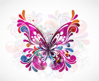 Vector Colorful Abstract Illustration Vector Illustrations floral