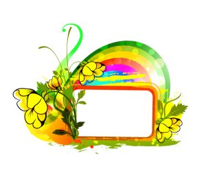Vector Colorful Floral Frame Vector Illustrations floral