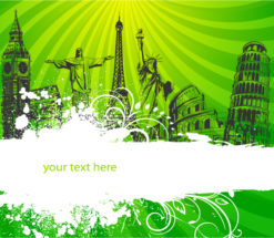 Abstract Background Vector Illustration Vector Illustrations building