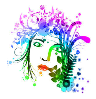 Vector Colorful Floral Illustration Vector Illustrations floral