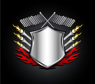 Racing Emblem Vector Illustration Vector Illustrations vector