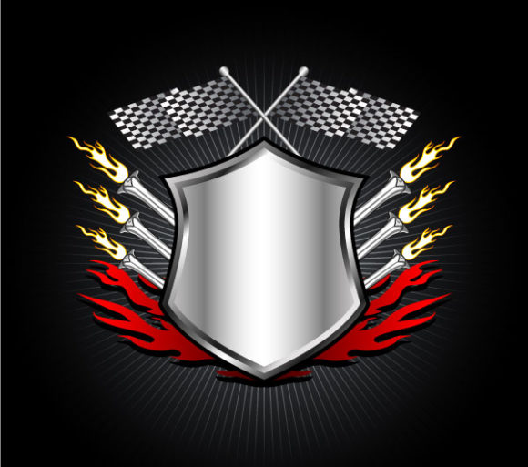 Racing, Emblem Vector Background Racing Emblem Vector Illustration 2011 02 17 m 2