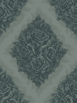 Vector Vintage Seamless Floral Wallpaper With Roses Vector Illustrations old