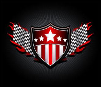 Racing Emblem Vector Illustration Vector Illustrations star