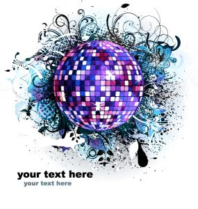 Vector Music Background With Discoball Vector Illustrations star