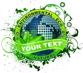 Vector Environmental Label With Globe Vector Illustrations old