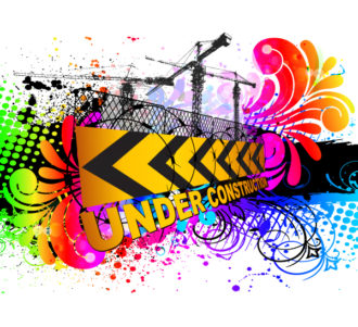 Vector Colorful Under Construction Sign Vector Illustrations old