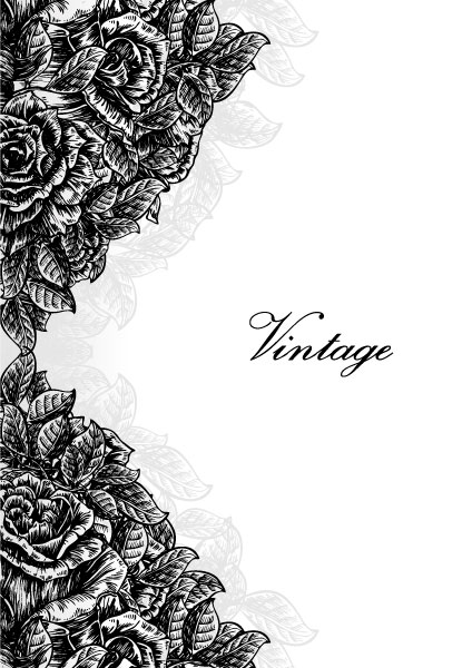 Vector Vintage Floral Background With Roses 2011 02 22 p 20