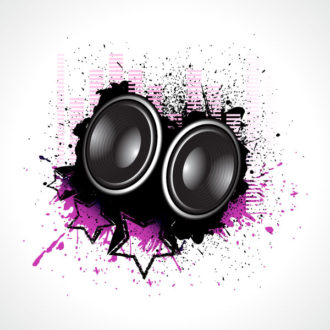 Vector Music Illustration With Speakers Vector Illustrations star
