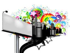 Vector Urban Illustration With Billboard Vector Illustrations star