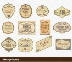 Vintage Labels Set Vector Illustration Vector Illustrations tree