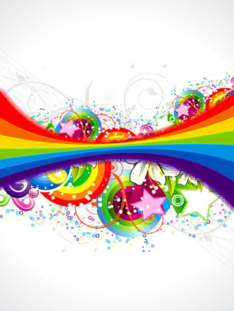 Vector Abstract Colorful Background With Rainbow Vector Illustrations wave