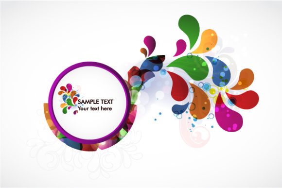 Abstract Colorful Frame Vector Illustration Vector Illustrations vector