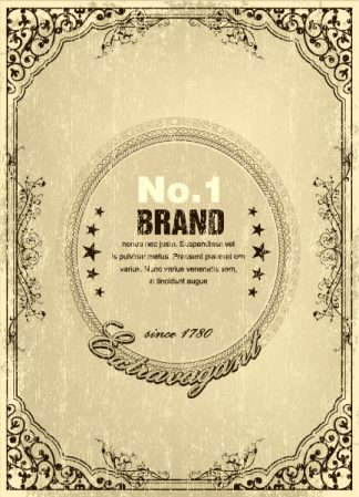 Grunge Vintage Label Vector Illustration Vector Illustrations old