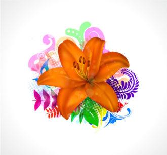 Colorful Floral Background Vector Illustration Vector Illustrations floral