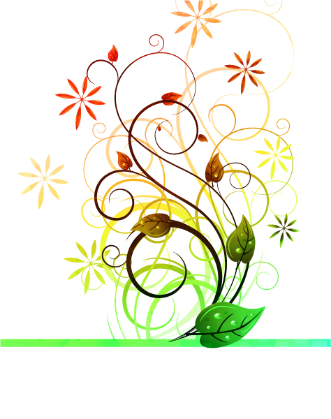 Smashing Floral Vector: Vector Colorful Floral Background 1