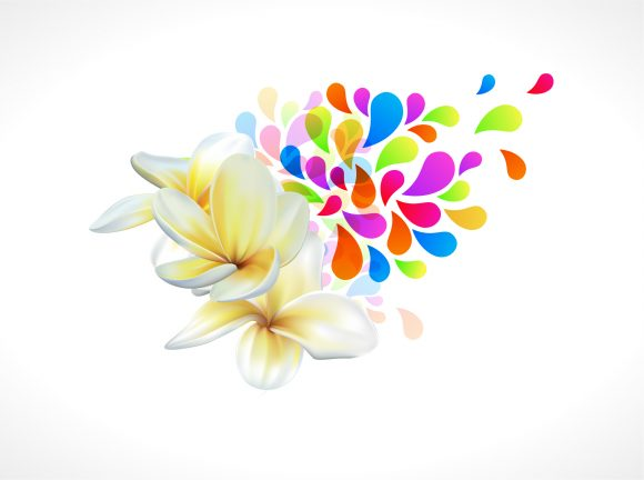 Brilliant Colorful Vector Art: Vector Art Colorful Floral Illustration 2011 03 12 ga 12