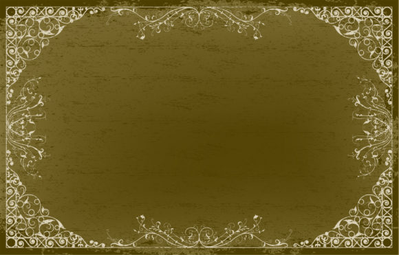 Smashing Frame Vector Background: Vintage Floral Frame Vector Background Illustration 5