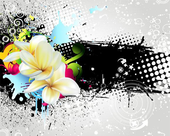 Grunge, Vector Vector Image Vector Grunge Colorful Floral Background 2011 03 12 ga 19